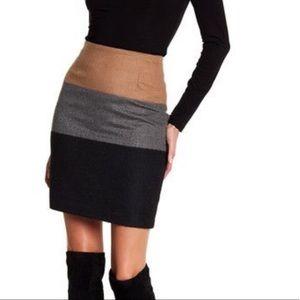Amanda & Chelsea Colorblock Wool Pencil Skirt